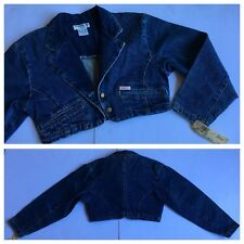 NWT Vintage 1980's Georges Marciano for GUESS Bolero Denim Jean Jacket Small USA