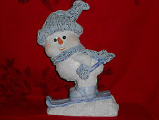 "SNOWMAN SKIER 12"" WINTER COLLECTIBLE WORLD BAZZARS NEW GREAT CHRISTMAS GIFT"