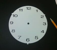 "30 Paper clock faces 6 3/8"" diameter with precut center hole, easy to read"