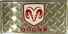 Dodge Ram Diamond Embossed License Plate Auto Tag