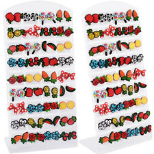Cute Fashion Jewelry Flower Watermelon Fruits Acrylic Ear Stud Earrings 36 Pairs