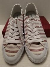 Universal Thread Goods Co. Women's Striped Sneakers Bobos Multi-Color Red/June