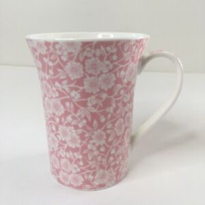 Queens Gifts Coffee Tea Mug Cup Pink Story Calico Fine China Flowers
