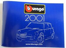 BURAGO - 2001 POCKET CATALOGUE WITH SCALE MODELS 1/18, 1/24, 1/43 (ST)