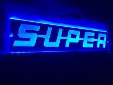 Blau LED Innen Cabin Licht Super Platte Laser Neon beleuchteter 12V 500mm