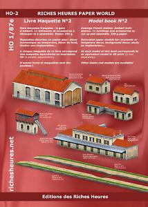 Livre maquette HO n°2 - La gare d'Ambert : 11 bâtiments à assembler