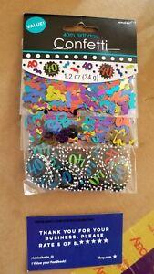 Chevron and Stripes 40th Birthday Party Confetti Decoration, Multi (1.2 Ounces)