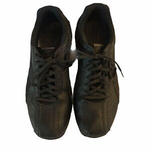 Skechers Men's Sneakers US 13 Black Slip Resistant Walking Shoes Comfort Fit Lac