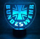 Bundeswehr BW Kreuz Wappen Logo Emblem Abzeichen Patch Flagge LED Lampe+Fernbed