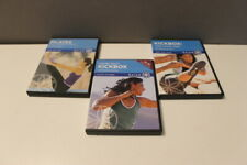 3 Gaiam workout fitness DVD lot Kickbox body pilates kickbox cross total body e1