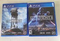 Star Wars Battlefront 1 + 2 PlayStation 4 PS4 2 Game Lot Set I and II