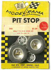 1965 K&B Aurora 1:24 Slot Car Pit Stop Parts LOLA T-70 POSI-LOK WHEEL SET #245