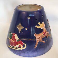 Jim Shore Santa Claus Reindeer Candle Jar Shade Christmas 2004 Enesco Cut Out