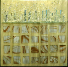 Mary Hong Cinnamon Abstract 36 x 36 glass artwork Hand Signed Make Offer