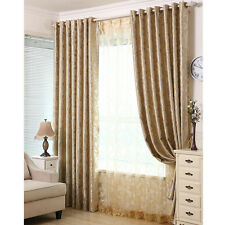 Pair Blockout Eyelet Curtains 3 Layers Fabric 140cm x 230cm (Drop) French Style