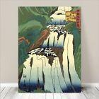 "Beautiful Japanese Landscape Art ~ CANVAS PRINT 24x16"" HIROSHIGE Kirifuri Falls"