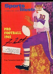 FRAN TARKENTON MINNESOTA VIKINGS 1965 SPORTS ILLUSTRATED autographed