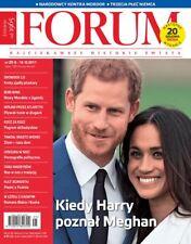 Prince Harry and Meghan Markle on cover Polish Magazine FORUM 25/2017