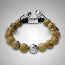 Herren Shamballa Jaspis braun Armband Armreif Armschmuck für Männer ,verstellbar