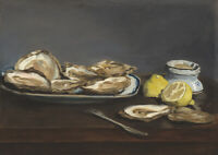 Edouard Manet: Oysters. Fine Art Print/Poster