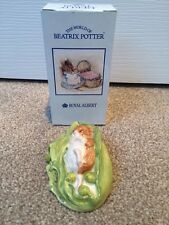 Royal Albert beatrix potter Timmy Willie sleeping on a pea pod new