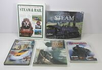 Lot of 5 Steam Train Historical Encyclopedic Locomotive Books