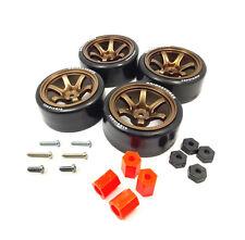 4PCS 1:10 RC Rims Speed Racing Drift Tires Drifting Wheel Modified Part Bronze