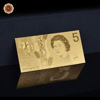 WR 2016 Australia $5 Dollar Note 24K GOLD Foil Banknote Novelty Money Collection
