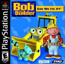 BBC Bob the Builder Can We Fix It Sony PlayStation 1 PS1 Game COMPLETE LikeNew