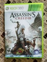 Assassin's Creed III (3) Microsoft Xbox 360 Clean 2 Discs Complete FREE SHIPPING