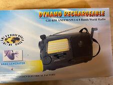 Dynamo Rechargeable World Radio GH-858 AM FM SW1-6, 8-Bands Hand Crank Radio