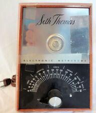 Seth Thomas Vintage Electronic Metronome E962-000 Mahogany Finish