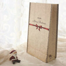 24pcs/lot Merry Christmas Kraft Paper Bag Bake Gift Bags Party Wedding Package