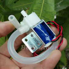 DC 12V Mini Electric Solenoid Valve N/O Normally Open Mini Water Air Valve +Tube