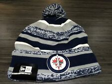 Winnipeg Jets Cap Hat NHL Hockey New Era Beanie Toque OSFM NE Sport Pom