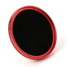 FOTGA 52mm Camera Fader Variable ND Filter Neutral Density ND2 ND8 to ND400 Red