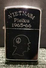 "Retro Copy Vietnam War Style Wind Proof Lighter: ""Peace Head"""