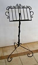Vintage Handmade Adjustable Black Wrought Iron Conductor Music Book Art Stand