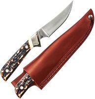 "Schrade Wolverine Fixed Knife 3.5"" 7Cr17MoV Stainless Steel Blade Staglon Handle"