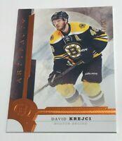 David Krejci /55 made Artifacts Orange Insert Parallel Hockey Card 52 Bruins