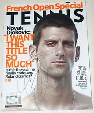 NOVAK DJOKOVIC Signed TENNIS Magazine  *JSA COA  Black