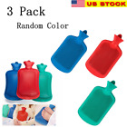 3x Rubber Heat Water Bag Hot Cold Warmer Relaxing Bottle Therapy Winter Thick