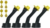 4 Pack MYC Cap Gas Can Spout Replacement for Blitz Old Style Nozzles W/Caps