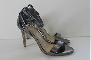 Gianni Bini Women's Shoe Size 6.5 M Silver Platform Dress Pumps High Heel