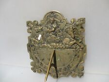Large Victorian Brass Garden Sundial Ornament Old Roman Numerals Antique