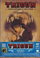 TRIGUN COLLECTOR'S EDITION DVD BOX 2 EPISODI 9-15 NUOVO BLISTERATO