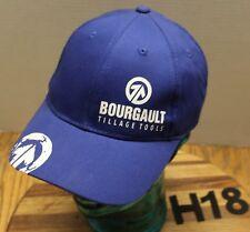 NWOT BOURGAULT TILLAGE TOOLS HAT BLUE STRAPBACK ADJUSTABLE NEVER WORN H18