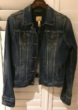 Abercrombie Fitch Denim Jeans Jacket Dark Faded Size L