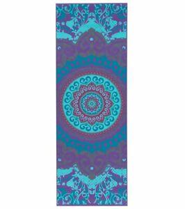 "Gaiam Yoga Mat Moroccan Garden Printed Lightweight Non-Slip 68""x24"" 4mm thick"