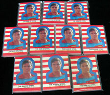 Lot of (10) 1983 Topps Superman 3 Sticker Set (22) NM/MT